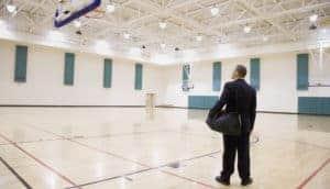 Metal structure indoor basketball gymnasium
