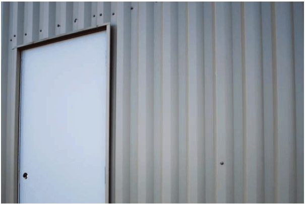 Metal building installed walls