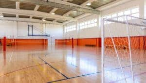 Ball games indoor courts stell structure