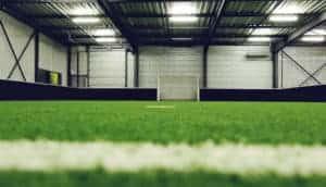 Indoor athletic field metal building