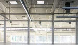 Metal building facility interior