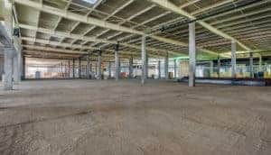 Wider storage facility interior