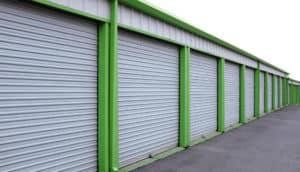 Metal building individual garage array