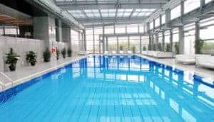 Metal building indoor pool