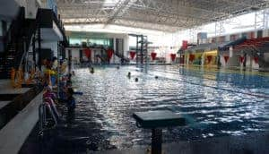 Steel covered aquatic and fitness center