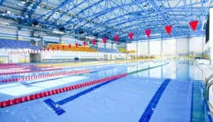 Indoor aquatic center steel building