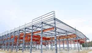 Steel building framework rendering