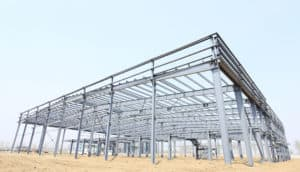 Steel skeleton frameworks school building