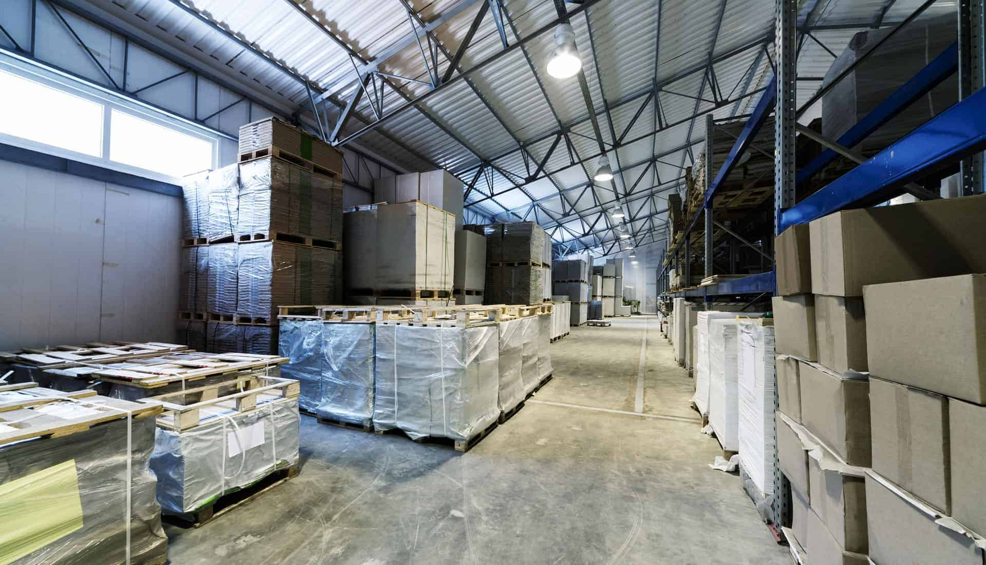 Steel structure warehouse facility