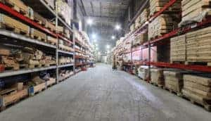Large storage facility interior
