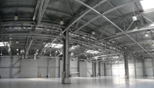 Metal building interior space