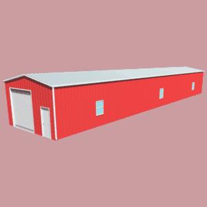 Metal building dimensions 100x20
