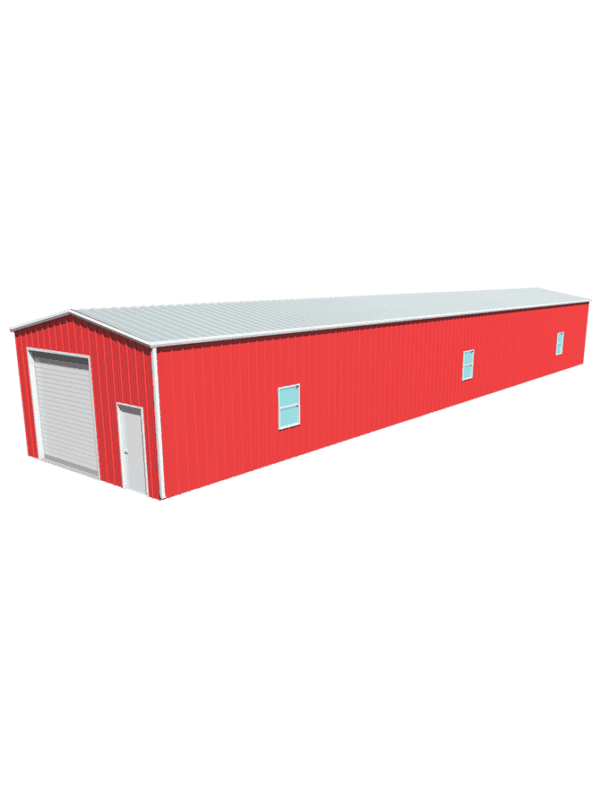 Metal building dimensions 100x20