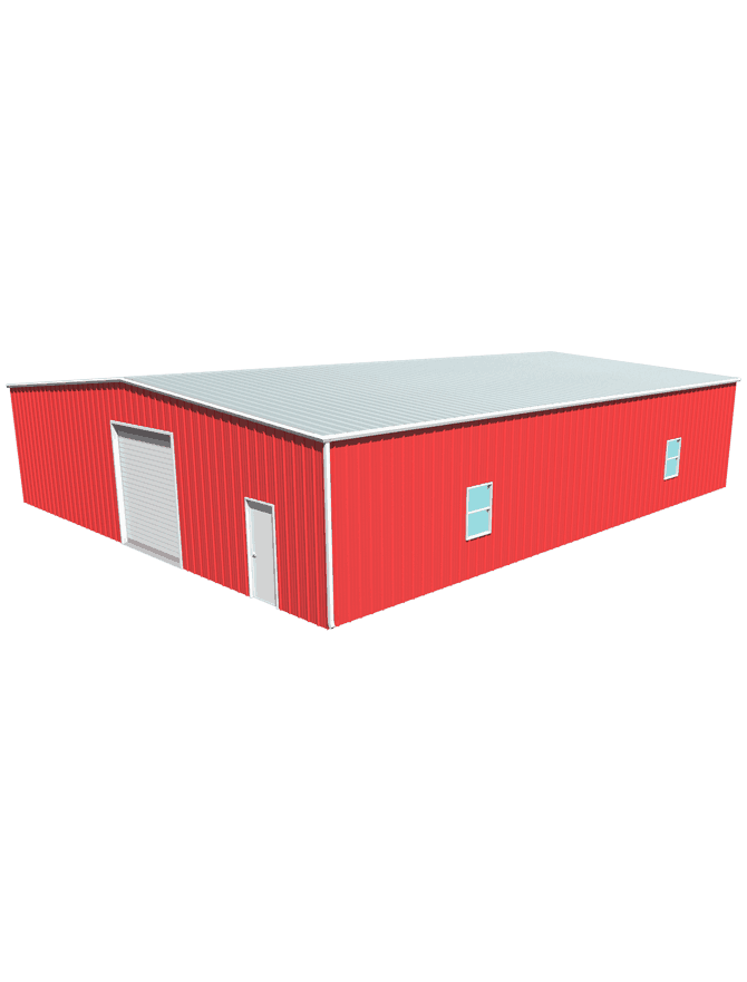 60 50 Matador Metal Building With 12 Foot Eave Height And 1 Roof Pitch
