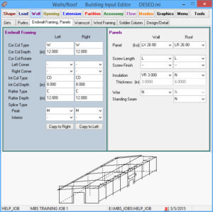 Roof and walls panel editor